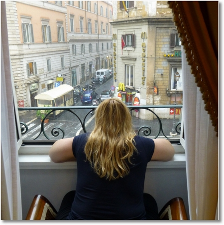 Via Nazionale from Hotel Quirinale