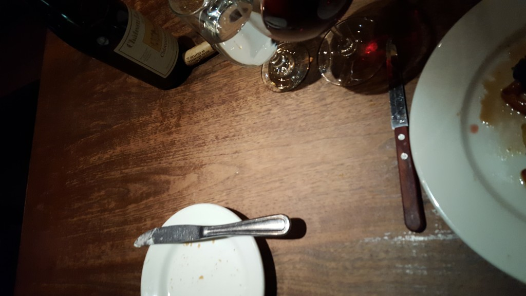 Worn tables and cheap sticky flatware detract just a little from the amazing dishes.